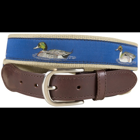 1930376062177 Belted Cow Company Accessories | Duck Pattern Mens Casual Leather ...